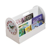 Tidy Books Portable Book Box; White