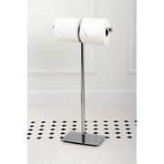 Kingston Brass Claremont Freestanding Toilet Paper Holder; Polished Chrome