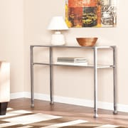 Wildon Home   Haycock Console Table with Glass Top