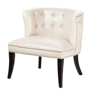 Madison Park Bianca Shelter Slipper Chair; Ivory