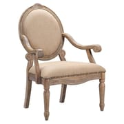 Madison Park Brentwood Oval Exposed Wood Arm Chair