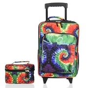 Obersee Kids Tie Dye 2 Piece Suitcase and Toiletry Bag Set