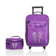 Obersee Kids Angel Wings 2 Piece Suitcase and Toiletry Bag Set
