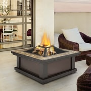 Real Flame Alderwood Fire Pit Table