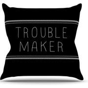KESS InHouse Trouble Maker Product Name Glow Polyester Throw Pillow  Throw Pillow; 18'' H x 18'' W