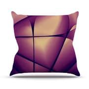 KESS InHouse Paper Heart Polyester Throw Pillow; 16'' H x 16'' W