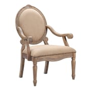 Madison Park Brentwood Madison Park Oval Back Exposed Wood Arm Chair; Beige