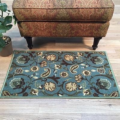 Rugnur Hammam Floral Doormat; 1'6'' x 2'7'' WYF078277872761