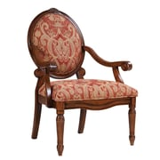 Madison Park Oval Back Arm Chair in Royal Burgundy