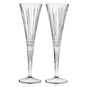 Godinger Silver Art Co Illusion Champagne Toasting Flute Glass (Set of 2)