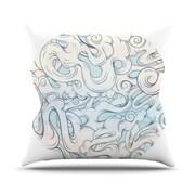 KESS InHouse Entangled Souls Throw Pillow; 18'' H x 18'' W
