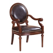 Madison Park Bi Cast Leather Roll Arm Chair w/ Nailheads