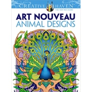 Creative Haven Art Nouveau Animal Designs Coloring Book, Paperback