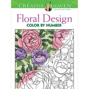 Creative Haven Floral Design Color by Number Coloring Book, Paperback