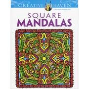 Creative Haven Square Mandalas AdultColoring Book, Paperback