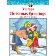 Creative Haven Vintage Christmas Greetings AdultColoring Book, Paperback
