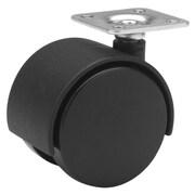 Richelieu Madico Dual Wheel Casters 40mm, Swivel, Black, 2/Set (F24422)