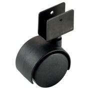 Richelieu Madico Dual Wheel Caster Bracket, 50mm, Swivel, Black, 2/Set (F22816)