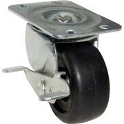 Richelieu Madico Polypropylene Caster Swivel, 50mm, Swivel with Brake, Black, (F25232)