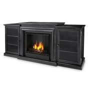 Real Flame Frederick Entertainment Center Gel Fuel Fireplace; Blackwash