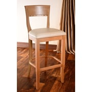 Benkel Seating Biedermier 30'' Bar Stool with Cushion; Natural