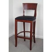 Benkel Seating Biedermier 30'' Bar Stool with Cushion; Mahogany