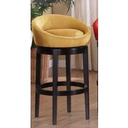 Armen Living Igloo 26'' Swivel Bar Stool; Yellow