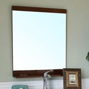 Bellaterra Home Chapman Bathroom Mirror; Medium Walnut