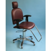 Brandt Industries Mammography Chair with Reclining Backrest and Flat Headrest; Burgundy