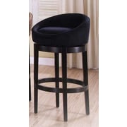 Armen Living Igloo 26'' Swivel Bar Stool; Black