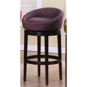 Armen Living Igloo 30'' Swivel Bar Stool; Eggplant
