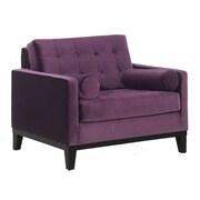 Armen Living Centennial Velvet Chair; Purple