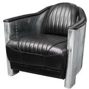 Home Loft Concepts Melbourne Leather and Metal Club Chair