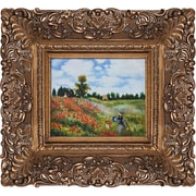 Tori Home Poppy Field in Argenteuil by Monet Framed Hand Painted Oil on Canvas