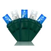 Wintergreen Lighting 70 5mm LED Christmas Lights; Blue/Cool White