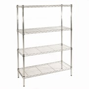 Seville Classics UltraZinc NSF Commercial Wire System 54'' H 4 shelf Shelving Unit
