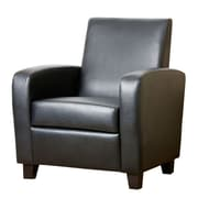 Abbyson Living Mercer Arm Chair; Black