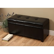 Warehouse of Tiffany Ariel Upholstered Storage Bedroom Bench; Black