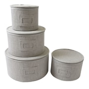 In This Space 4 Piece Round Plate Storage Case Set