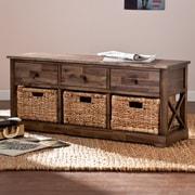 Wildon Home   Bourke Wood Storage Bench