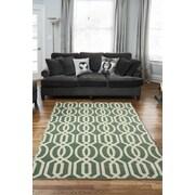 Diagona Designs Queen Teal/Ivory Trellis Area Rug; 7'10'' x 9'10''