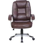 Just Cabinets Deluxe High-Back Executive Chair; Brown