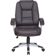 Just Cabinets Deluxe High-Back Executive Chair; Mocha