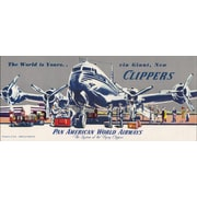 Marmont Hill World Is Yours Horizontal Pan American Vintage Aviation Graphic Art on Wrapped Canvas