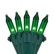 Kringle Traditions 100 Mini Lights 6'' Lead; Green