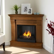 Real Flame Chateau Corner Gel Fuel Fireplace; Espresso