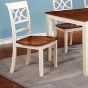 Hokku Designs Exenia Side Chair (Set of 2); Cream White / Cherry