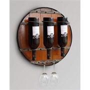 Welland Industries LLC 3 Bottle Wall Mounted Wine Rack