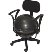 GGI International Sivan  Health and Fitness Adjustable Back Balance Ball Fit Chair with Arm Rests