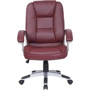 Just Cabinets Deluxe High-Back Executive Chair; Burgundy